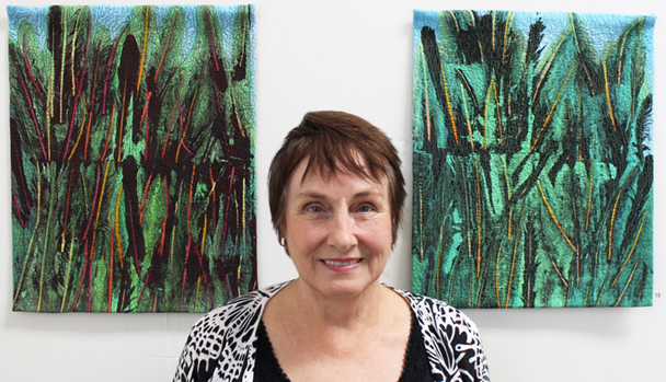 Judi Nikoleski with TENDER TREES 1 & 2.