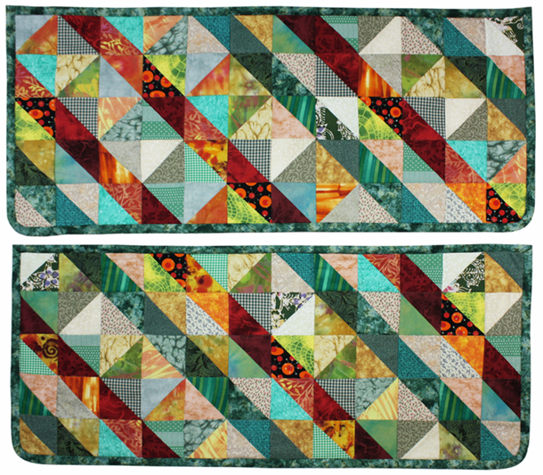 Red Green Tallboy Mats - patchwork